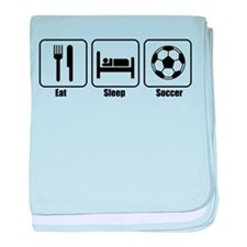 Eat Sleep Soccer BLK.png baby blanket
