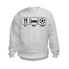 Eat Sleep Soccer BLK.png Sweatshirt