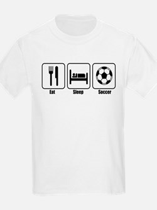 Eat Sleep Soccer BLK.png T-Shirt