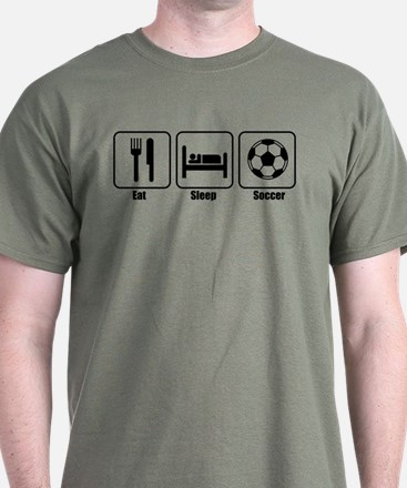 Eat Sleep Soccer BLK.png T-Shirt