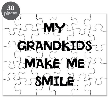 my grandkids make me smile Puzzle