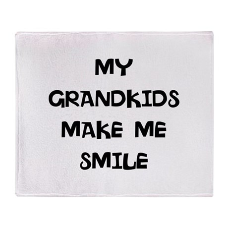my grandkids make me smile Throw Blanket