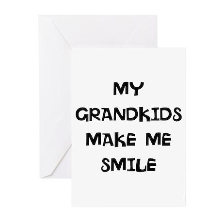 my grandkids make me smile Greeting Cards (Pk of 2
