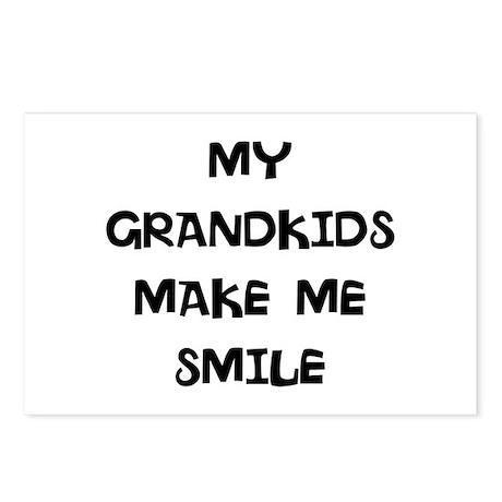 my grandkids make me smile Postcards (Package of 8