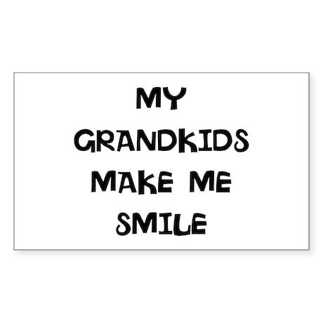my grandkids make me smile Sticker (Rectangle 10 p
