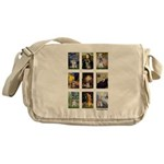 FamousArtSchnauzers (clr) Messenger Bag