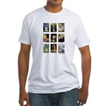 FamousArtSchnauzers (clr) Fitted T-Shirt