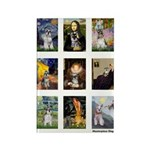 FamousArtSchnauzers (clr) Rectangle Magnet (10 pac