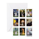 FamousArtSchnauzers (clr) Greeting Card
