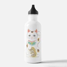Japanese Lucky Cat Water Bottle