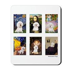 Famous Art Bichon (clr) Mousepad
