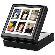 Famous Art Bichon (clr) Keepsake Box