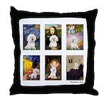 Famous Art Bichon (clr) Throw Pillow