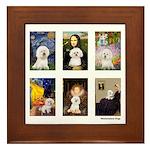 Famous Art Bichon (clr) Framed Tile