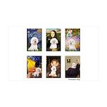 Famous Art Bichon (clr) 35x21 Wall Decal
