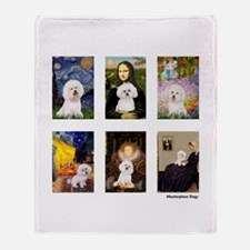 Famous Art Bichon (clr) Throw Blanket