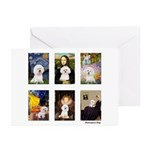 Famous Art Bichon (clr) Greeting Cards (Pk of 20)
