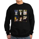 Famous Art Bichon (clr) Sweatshirt (dark)