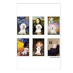 Famous Art Bichon (clr) Postcards (Package of 8)