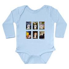 Famous Art Bichon (clr) Long Sleeve Infant Bodysui