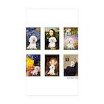 Famous Art Bichon (clr) Sticker (Rectangle 10 pk)