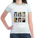 Famous Art Bichon (clr) Jr. Ringer T-Shirt