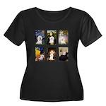 Famous Art Bichon (clr) Women's Plus Size Scoop Ne