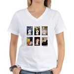 Famous Art Bichon (clr) Women's V-Neck T-Shirt