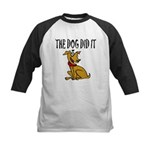 Dog Did It Kids Baseball Jersey