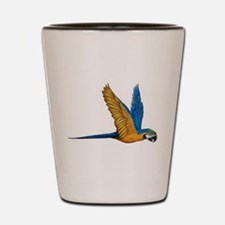 Flying Macaw Parrot Bird Shot Glass