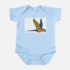 Flying Macaw Parrot Bird Infant Bodysuit