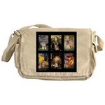 FamourArtSchnauzers 1 Messenger Bag
