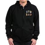 FamourArtSchnauzers 1 Zip Hoodie (dark)