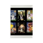 FamourArtSchnauzers 1 Rectangle Magnet (100 pack)