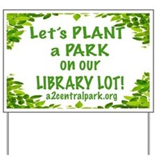 Library Green Yard Sign