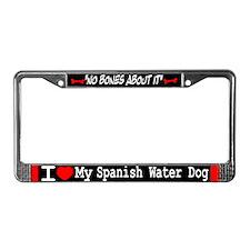 NB_Spanish Water Dog License Plate Frame