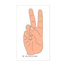 Hippie Sticker (Rectangular)
