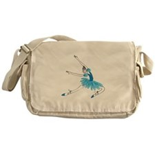Blue Ballerina Messenger Bag
