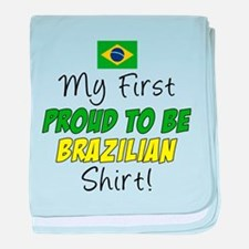 First Proud To Be Brazilian baby blanket