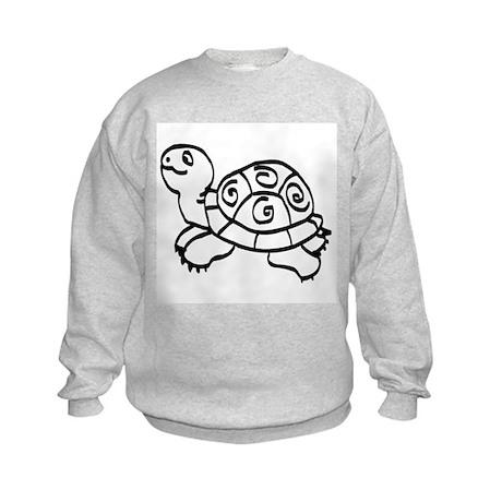 Green Turtle Kids Sweatshirt