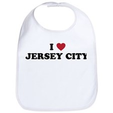 I Love Jersey City New Jersey Bib