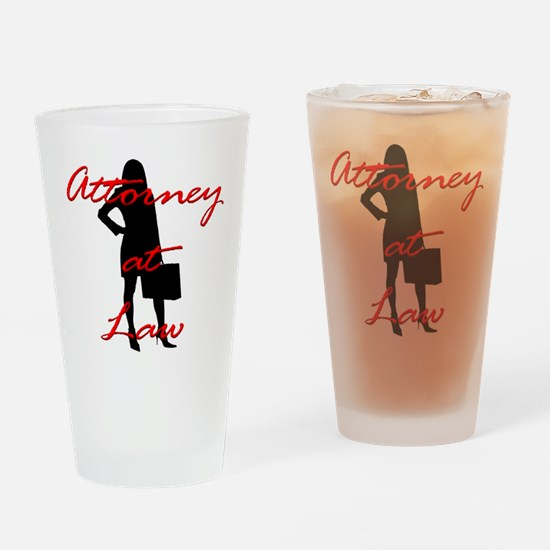Attorney at Law Drinking Glass