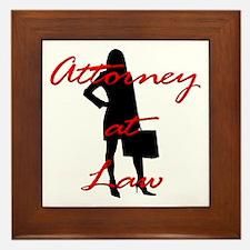 Attorney at Law Framed Tile