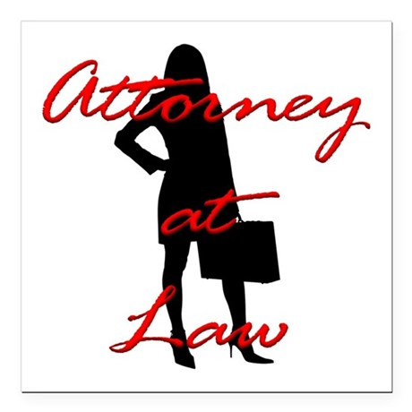 """Attorney at Law Square Car Magnet 3"""" x 3"""""""