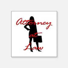 "Attorney at Law Square Sticker 3"" x 3"""