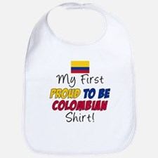 First Proud To Be Colombian Bib