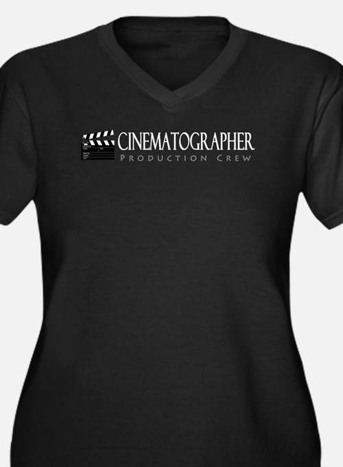 Cinematographer Women's Plus Size V-Neck Dark T-Sh