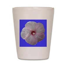 FloralWaves Pink/Blue Hibiscus Shot Glass