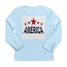 America Long Sleeve Infant T-Shirt