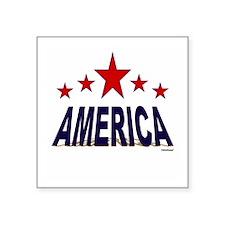 """America Square Sticker 3"""" x 3"""""""